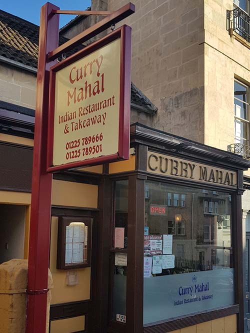Curry Mahal Indian Restaurant in Bath